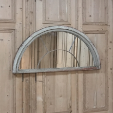 19th Century Demilune Window Mirror