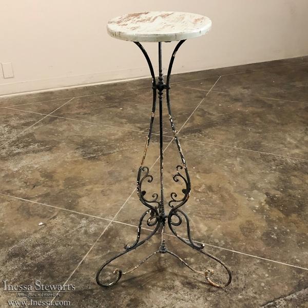 Antique Wrought Iron Pedestal