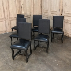 Set of 6 Antique Os de Mouton Painted Dining Chairs