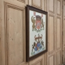 19th Century Framed Oil Painting of Family Crests