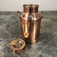 19th Century Copper Milk Can