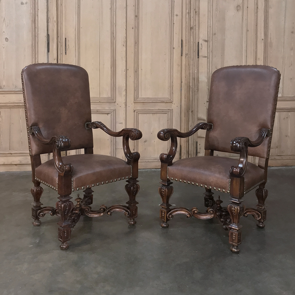 Louis Xiv Leather Armchair Inessa Stewart S Antiques