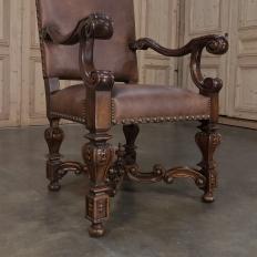 Louis XIV Leather Armchair