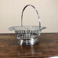 French Silver Plate Louis XVI Style Basket