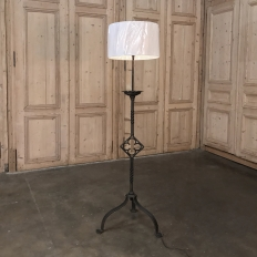 18th Century Wrought Iron Torchere ~ Floor Lamp