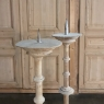 Set of Three 19th Century Turned Wood Painted Candlesticks