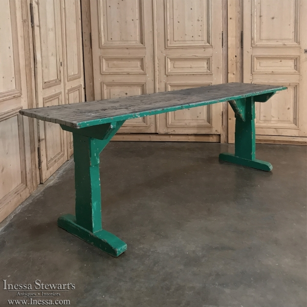 Antique French Rustic Sofa Table