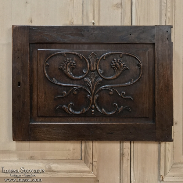 Antique Decorative Carved Wood Panel