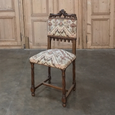 19th Century Gothic Walnut Side Chair