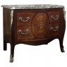 Commode, 19th Century French Louis XV Bombe with Marble Top
