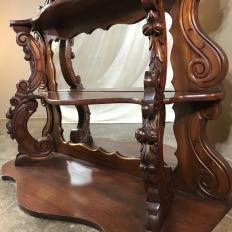19th Century French Louis Philippe Mahogany Mirrored Shelf