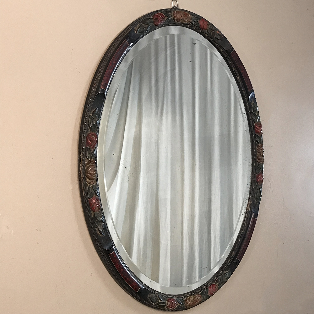 Antique Hand Painted French Oval Mirror Inessa Stewart S