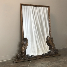 Antique Italian Empire Walnut Mirror