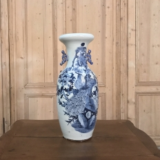 19th Century Chinese Blue & White Vase