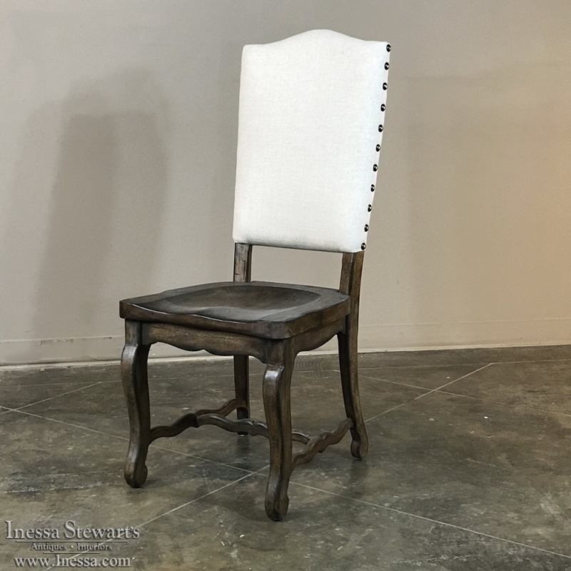 Reproduction English Country Dining Chair with Upholstered Seatback