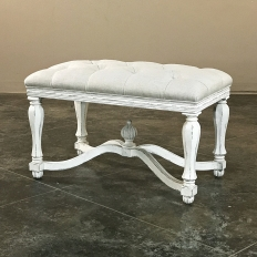 Reproduction King Henry Upholstered Painted Bench