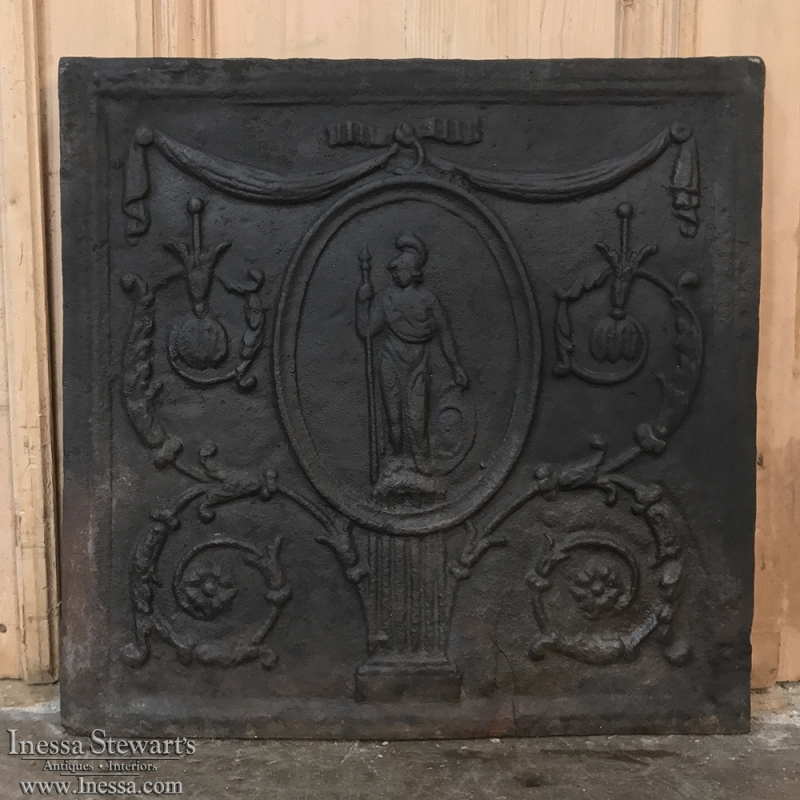 18th Century Cast Iron Fireback