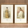Pair 19th Century Framed Hand-Colored Engravings