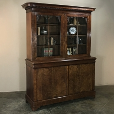 19th Century Louis Philippe Mahogany Bookcase, ca.1840