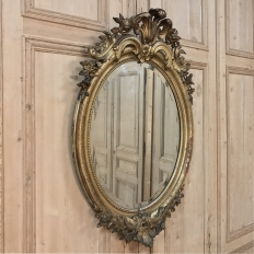 19th Century French Louis XVI Gilded Oval Mirror