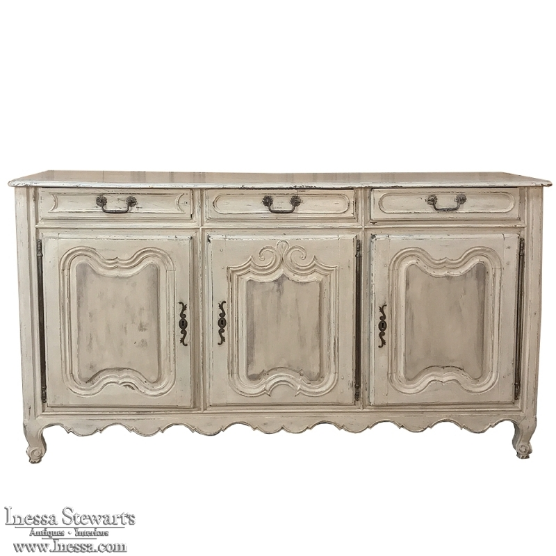 18th Century Country French Provincial Painted Buffet