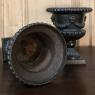 Pair Antique Cast Iron Urns