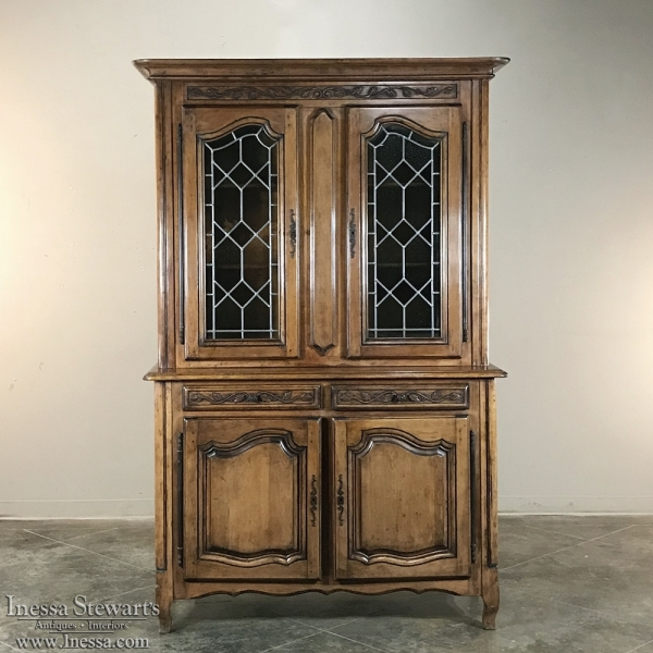 Antique Country French Provincial Cherry Wood Display Buffet ~ Bookcase