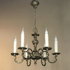 Antique French Louis XV Brass Chandelier