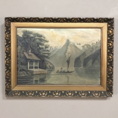 Antique Framed Oil Painting on Canvas by J Stoffels