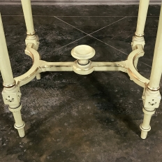 19th Century French Louis XVI Painted & Gilded End Table