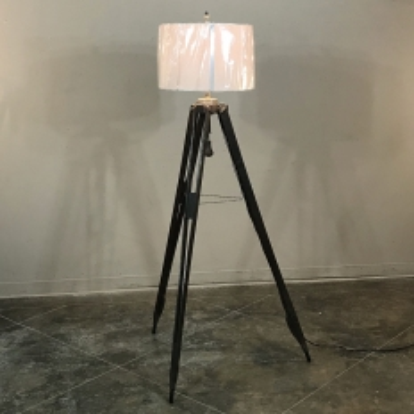 Antique Surveyor's Tripod Floor Lamp
