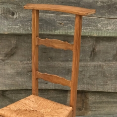 19th Century Country French Rush Seat Prie Dieu