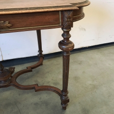 19th Century French Louis XVI Walnut End Table