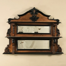 19th Century French Napoleon III Period Wall Shelf with Mirrors