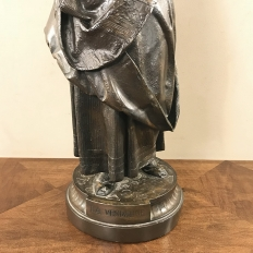 19th Century Spelter Statue of Woman at Harvest Time
