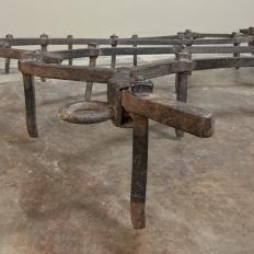 Pair Pot Racks ~ 19th Century Wrought Iron Soil Aerators