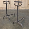 Pair 18th Century Wrought Iron Andirons