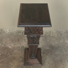 19th Century French Louis XVI Carved Fruitwood Pedestal