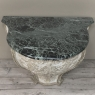 18th Century French Baroque Marble Top Painted Console ~ Pedestal