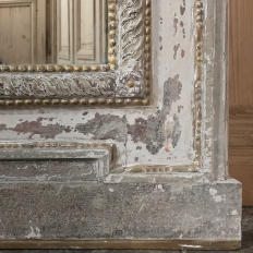 18th Century Country French Provincial Painted Trumeau