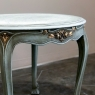 Antique Country French Painted Round End Table