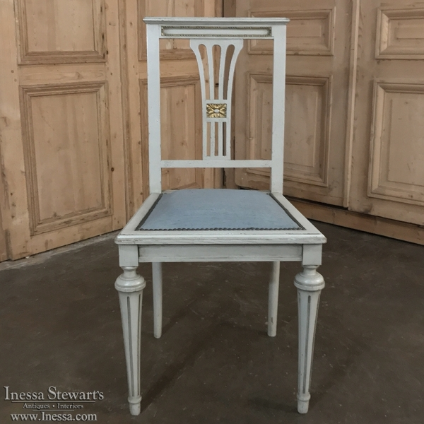 19th Century French Painted Salon Chair