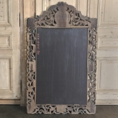 Antique Renaissance Carved Stripped Wood Mirror