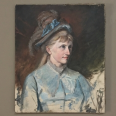 "Antique Oil on Canvas ""Portrait of a Swedish Lady"""
