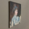 Antique Oil Portrait on Canvas