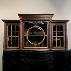19th Century French Louis XVI Mahogany Wall Vitrine