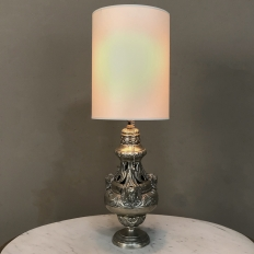 19th Century Pewter Sugar Server Table Lamp