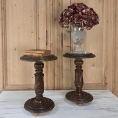 Pair Antique Renaissance Pedestals