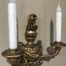 Pair Italian Hand-Carved Louis XVI Giltwood Sconces