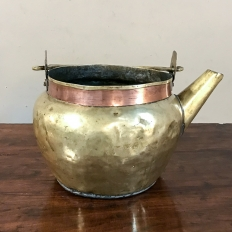 19th Century Brass & Copper Kettle
